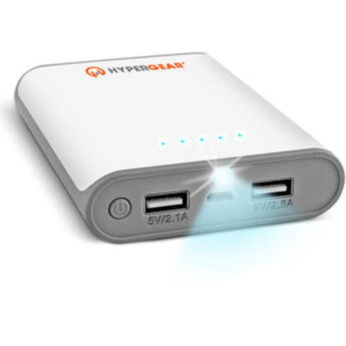 HyperCel 8000mAh Dual USB Power Bank with 2.1A+2.5AOutput