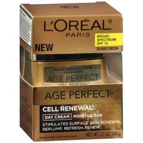 L'Oreal Age Perfect Cell Renewal Day Cream Moisturizer SPF 15, 1.7 OZ