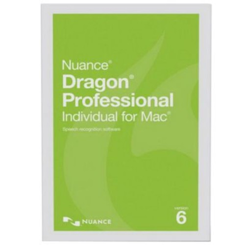 Nuance Dragon Pro Individual V.6 Speech Recognition Software, 1 User, Mac OS X, DVD (S601A-G00-6.0)