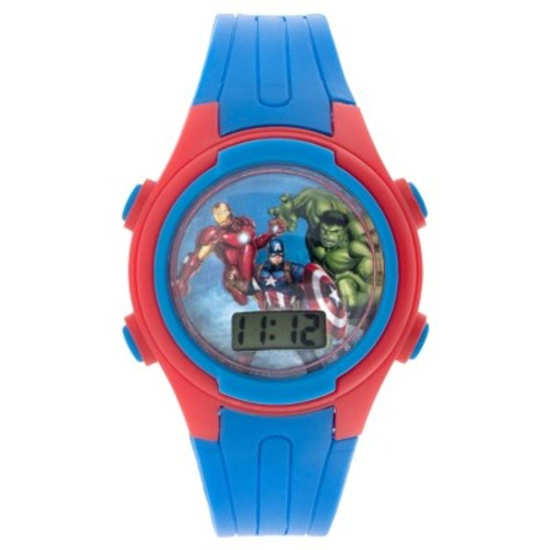 Kids' Avengers Cylinder Coin Bank Tin Set Watches - Blue
