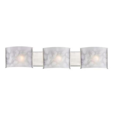 Filament Design Shadow 3-Light Brushed Nickel Bath Vanity Light