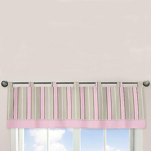 Sweet Jojo Designs Mod Dots Window Valance in Pink