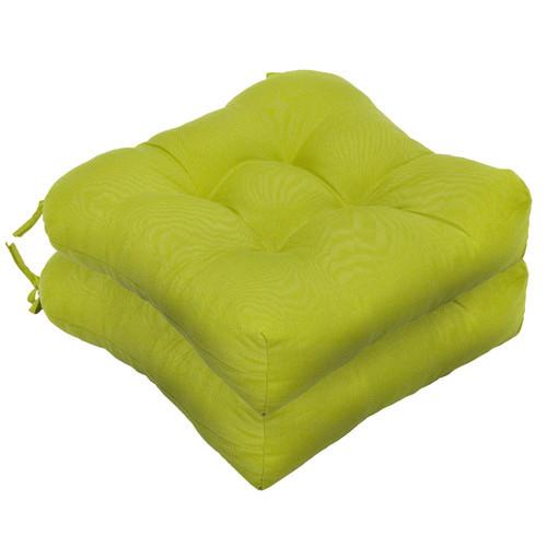 Outdoor Dining Chair Cushion [Fabric : Kiwi Green]
