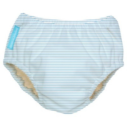 Charlie Banana Reusable Swim Diaper, Blue Stripe - XL