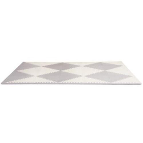 Skip Hop Geo Grey-Cream Playspot Foam Floor Tile Playmat, Chevron