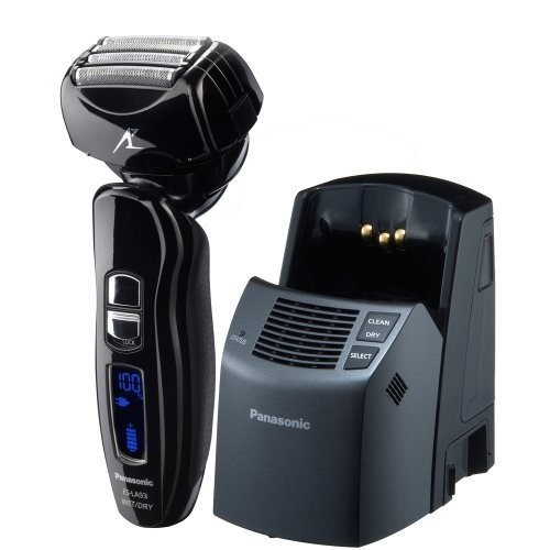 Panasonic ES-LA93-K, Arc4 Electric Razor, Mens 4-Blade with Multi-Flex Pivoting Head and Dual Motor, Premium Automatic Clean & Charge Station Included, Wet or Dry Operation