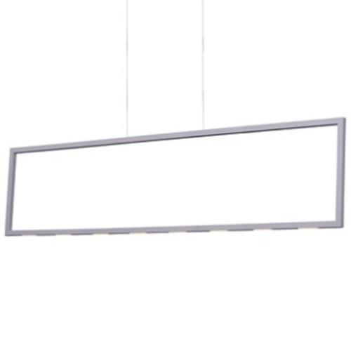 Rhombus LED Linear Suspension [Finish : Matte White]