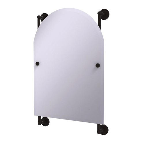 Allied Brass Prestige Skyline Collection Arched Top Frameless Rail Mounted Mirror in Oil Rubbed Bronze