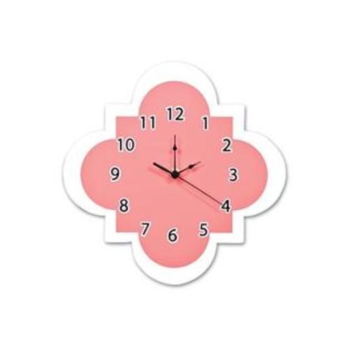 Trend Lab Quatrefoil Wall Clock, Coral