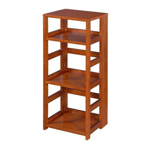 Niche Flip Flop Cherry 3-Shelf Square Folding Bookcase