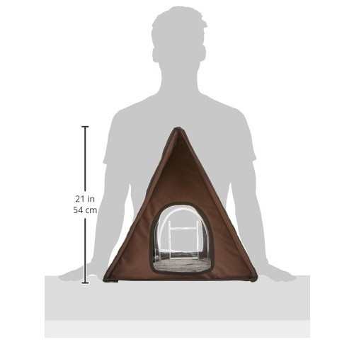 K&H Manufacturing Outdoor Multi-Kitty A-Frame - Chocolate 35