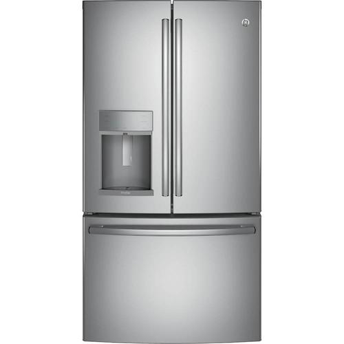 GE - Profile Series 27.8 Cu. Ft. French Door Refrigerator - Stainless steel