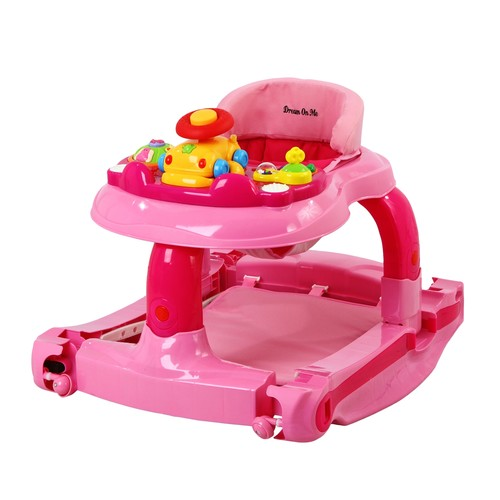 Dream On Me 2 in 1 Baby Tunes Musical Activity Walker and Rocker, Pink [Pink]