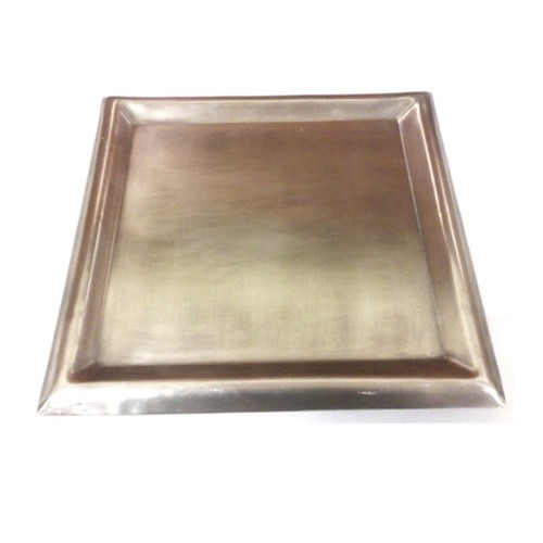 Large Stainless Steel Square Plate Candle Holder