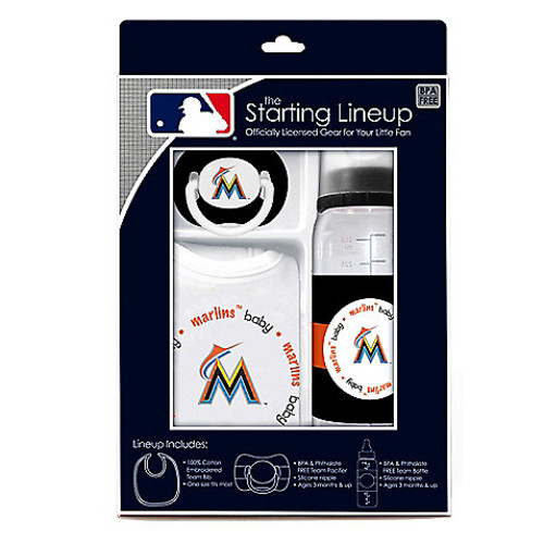 Baby Fanatic MLB Florida Marlins Baby Essentials Gift Set