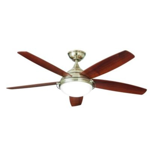 Home Decorators Collection Gramercy 52 in. LED Indoor Brushed Nickel Ceiling Fan with Light Kit and Remote Control