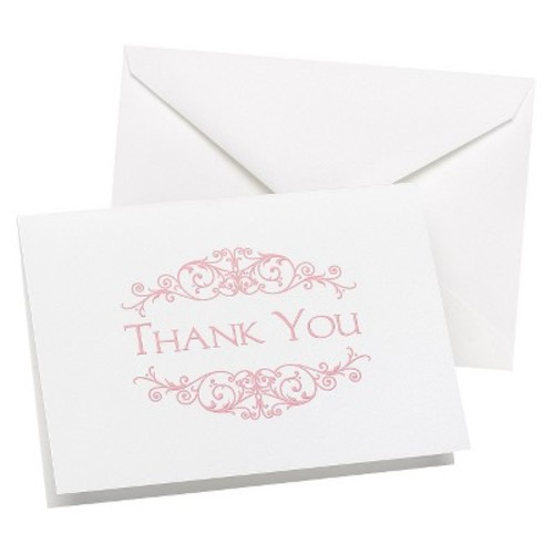 Hortense B Hewitt Flourish Frame Thank You (Set of 50)