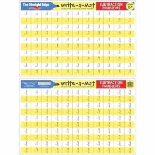 Melissa & Doug Subtraction Problems Mat Write-A-Mat