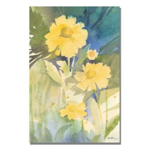 Trademark Fine Art Shelia Golden 'Sunshine Yellow' Canvas Art 22x32 Inches