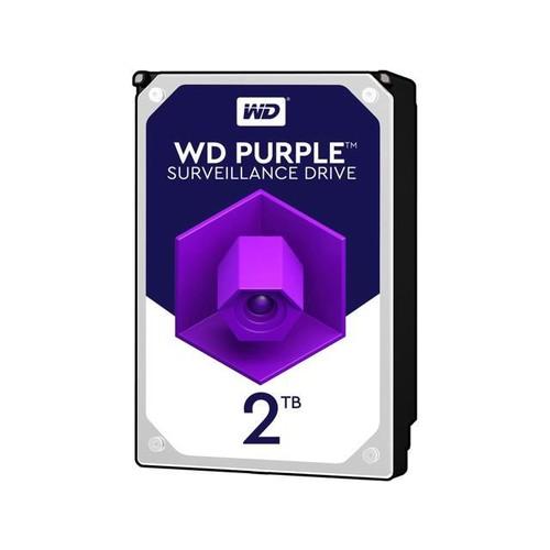 WD Purple 2TB Surveillance Hard Disk Drive - 5400 RPM Class SATA 6Gb/s 64MB Cache 3.5 Inch WD20PURZ