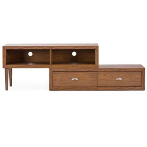 Baxton Studio Bainbridge TV Stand in Walnut