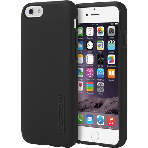 Incipio DualPro Case Cover for Apple iPhone 6 (Black/Gray) - IPH-1179-BLKGRY