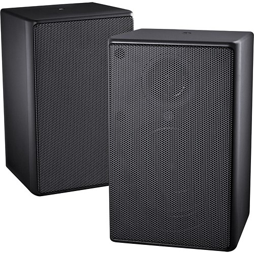 Insignia - 2-Way Indoor/Outdoor Speakers (Pair) - Black