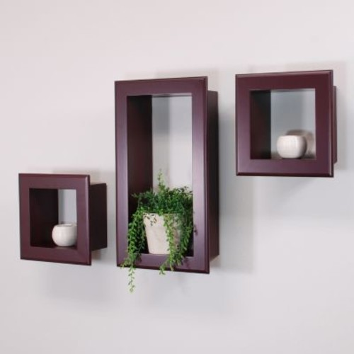 nexxt Framed Cubbi 3-piece Wall Shelf Set