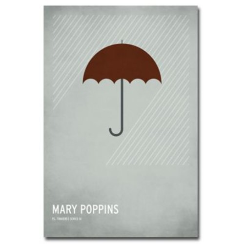 Trademark Fine Art Christian Jackson 'Marry Poppins' Canvas Art 24x36 Inches