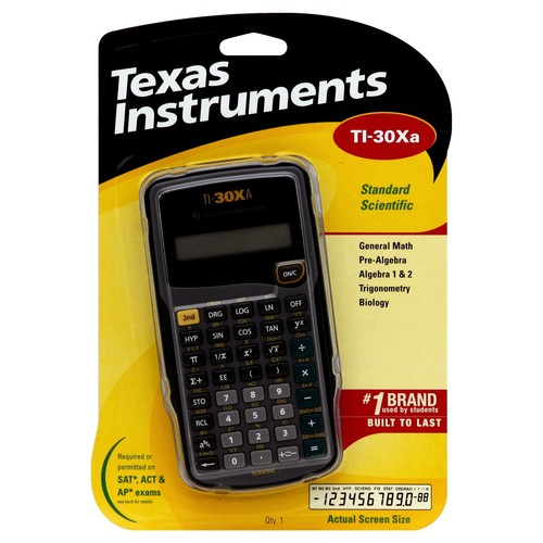 Texas Instruments Standard Scientific Calculator, TI-30Xa 1 calculator