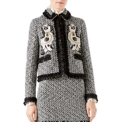 GUCCI Embroidered Tweed Jacket