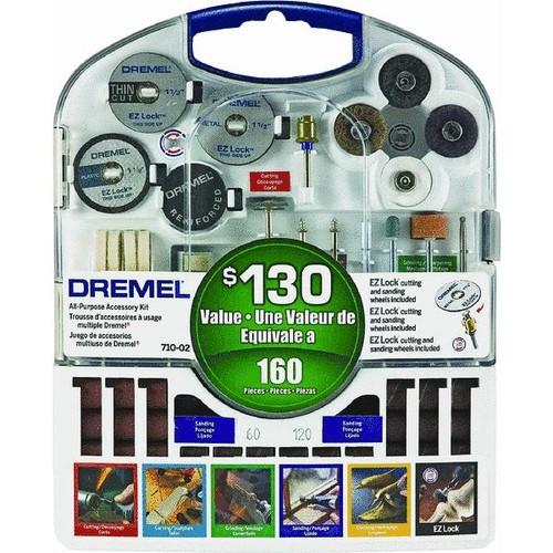 Dremel 160-Piece All-Purpose Rotary Tool Accessory Kit - 710-08