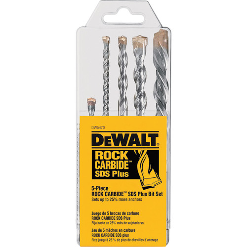 DEWALT Rock Carbide SDS Plus Bit Set  5-Pc., DW5470