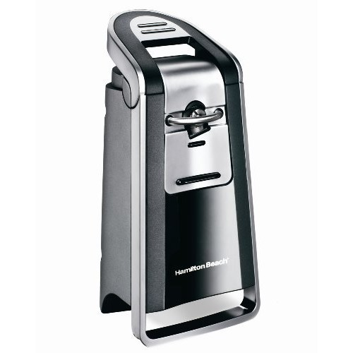 Hamilton Beach 76607 Smooth Touch Can Opener, Black and Chrome [Standard Packaging, With scissors]