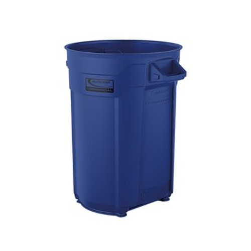 Suncast Commercial Utility Trash Can 44 Gallon, Blue (BMTCU44BL)