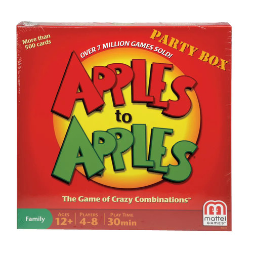 Mattel - Apples to Apples Party Box Card Game - Red