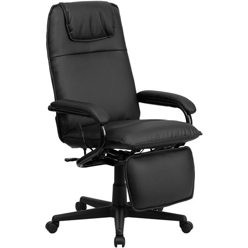 Flash Furniture High Back Black Leather Executive Reclining Office Chair High-Back