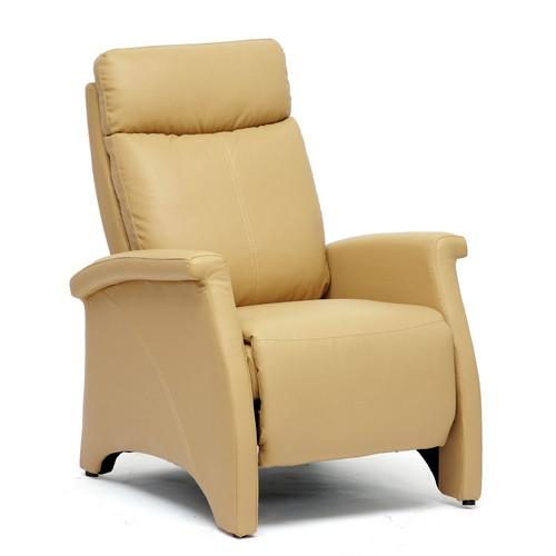 Baxton Studio Sequim Tan Modern Recliner Club Chair