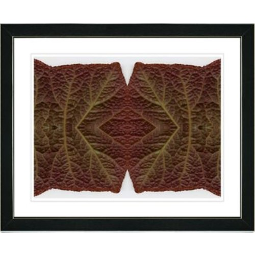 Studio Works Modern ''Abstract Mosaic Leaf Series - Interplay'' by Zhee Singer Framed Graphic Art