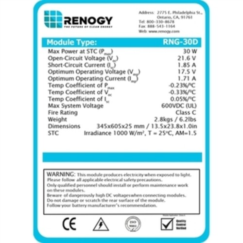 Renogy 3-watt 12-volt Monocrystalline Solar Panel [option : Grey]