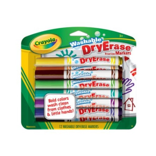 Crayola Washable Dry Erase Markers, 12pk