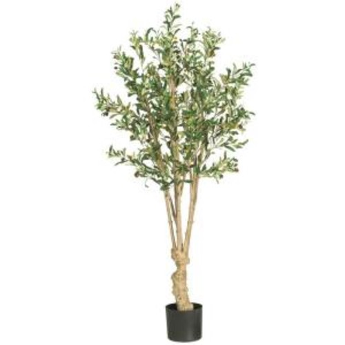 Nearly Natural 5 ft. Olive Silk Tree