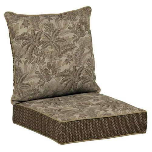 Bombay Outdoors Palmetto Mocha Snap Dry Deep Seat Cushion Set