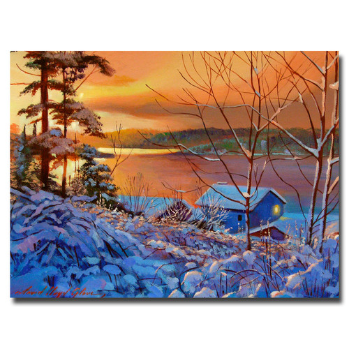 Trademark Global David Lloyd Glover 'Winter Day Begins' Canvas Art [Overall Dimensions : 24x32]