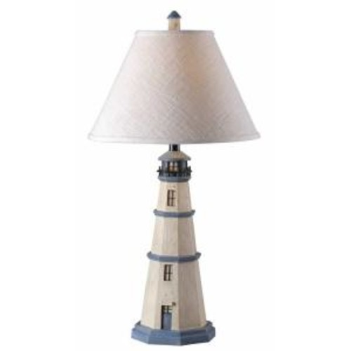 Kenroy Home Nantucket 32 in. Antique White Table Lamp