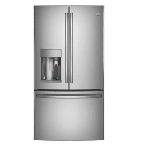 GE Profile 36 in. W 22.1 cu. ft. Smart French Door Refrigerator with Keurig K-Cup in Stainless Steel, Counter Depth