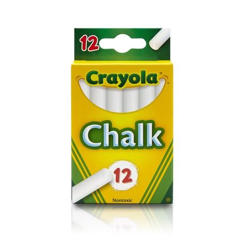 Crayola White Chalk 12 each [1 Pack of 12 chalks ]
