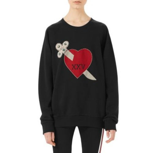 GUCCI Oversized Heart Dagger Sweatshirt