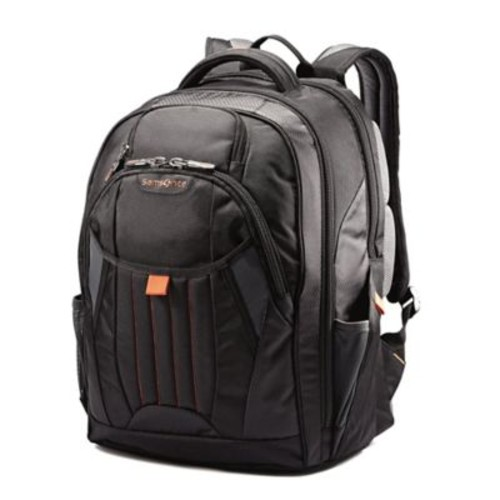 Samsonite Tectonic Large Backpack in Black/Orange