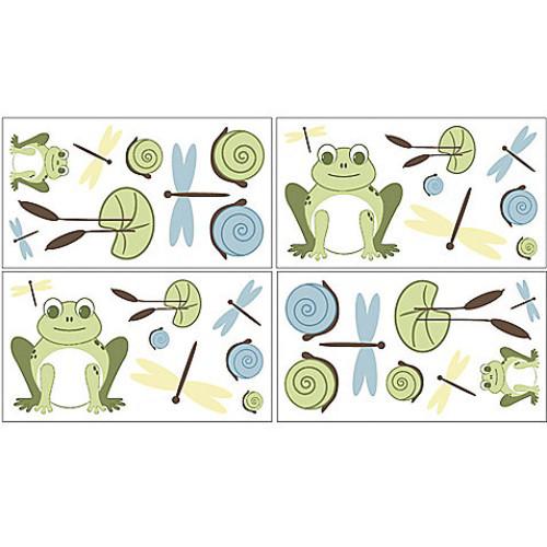 Sweet Jojo Designs Leap Frog Wall Decal Stickers